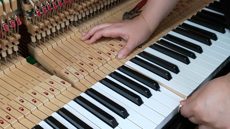 アップライトピアノの整調④「鍵盤調整」