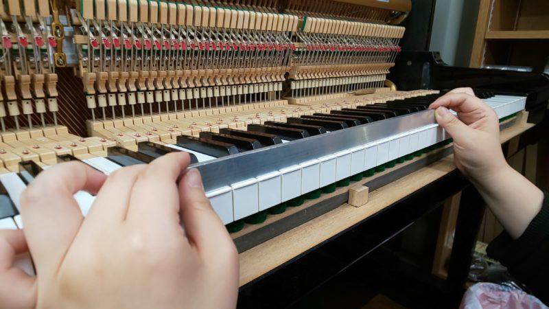 アップライトピアノの整調⑥