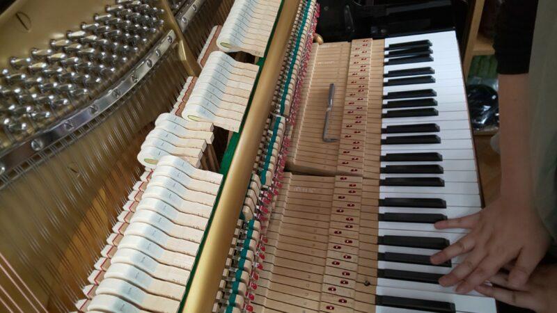 アップライトピアノの整調⑨